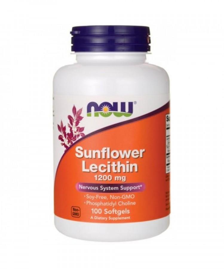 Viên Uống Now Foods Sunflower Lecithin Hỗ Trợ Ngừa Tắc Tia Sữa