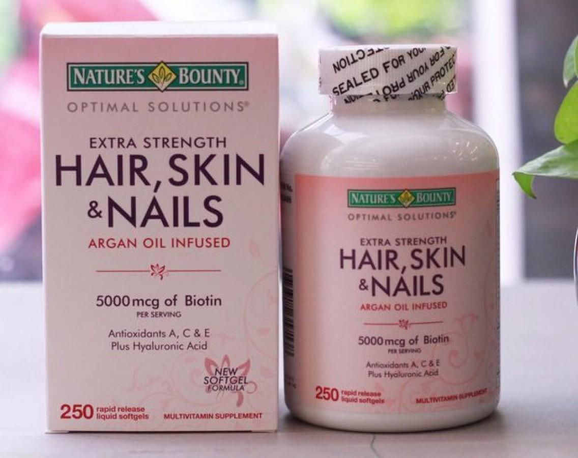 Hair Skin Nail Nature's Bounty – Viên Uống Đẹp Da, Tóc, Móng