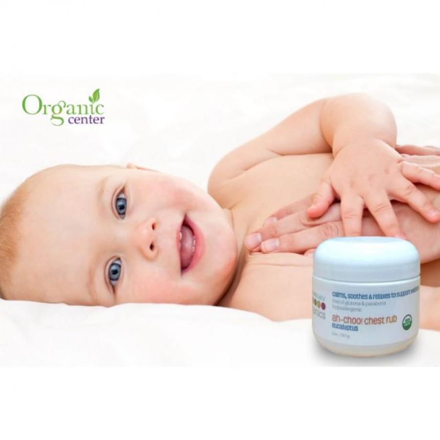 Kem Bôi Ấm Ngực Hữu Cơ Nature's Baby Organics 56.7g Cho Trẻ
