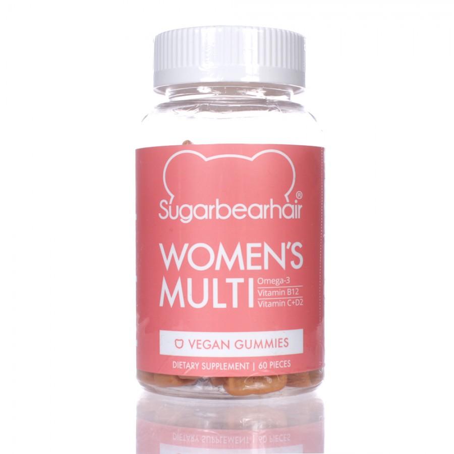 Kẹo Hỗ Trợ Mọc Tóc Sugar Bear Hair Women's Multi