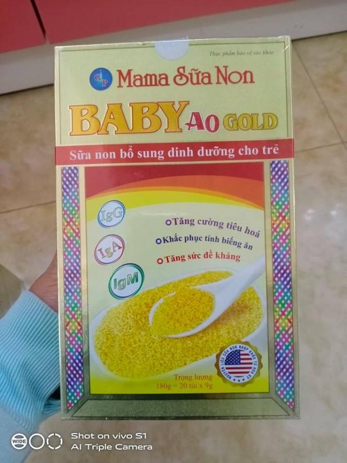 Mama Sữa Non Baby A0 Gold Tăng Đề Kháng Cho Trẻ Sơ Sinh