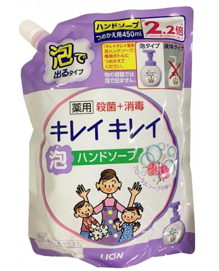 Nước Rửa Tay Kháng Khuẩn Tạo Bọt Lion Nhật Bản