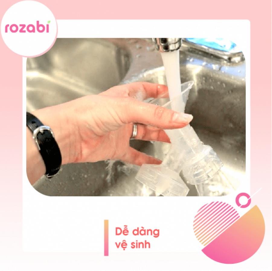 Máy Hút Sữa Điện Đôi Rozabi Deluxe Có Pin Sạc
