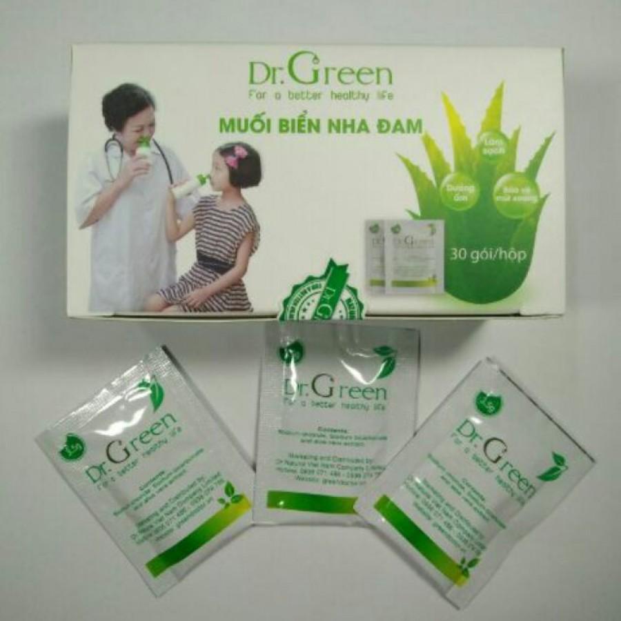 Muối Rửa Mũi DR.GREEN Chiết Xuất Lô Hội  Hộp 30 Gói