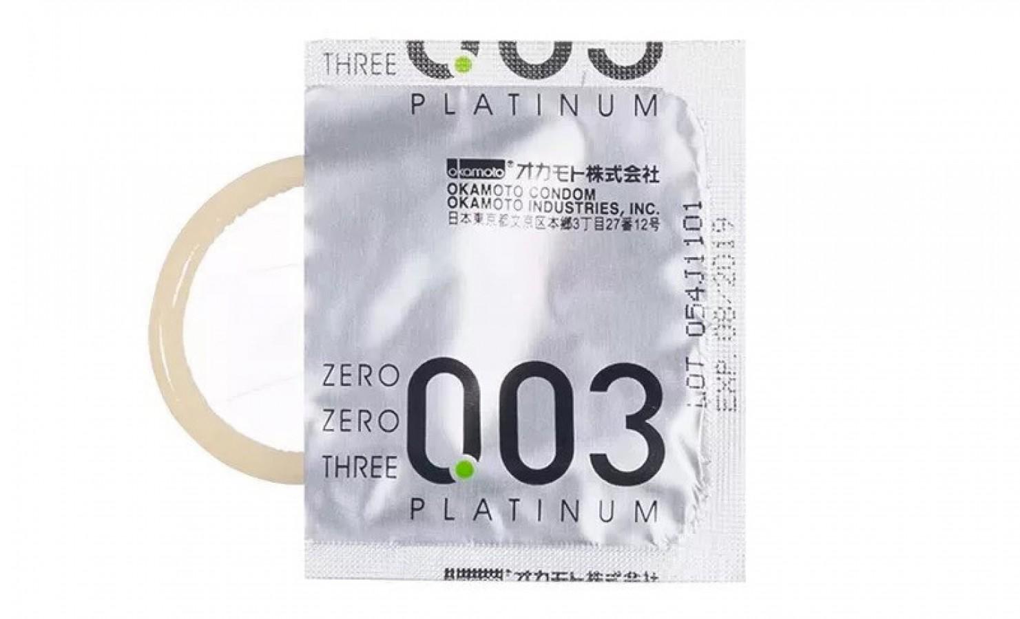 Bao Cao Su Okamoto 0.03 Platinum (3 Cái/hộp)