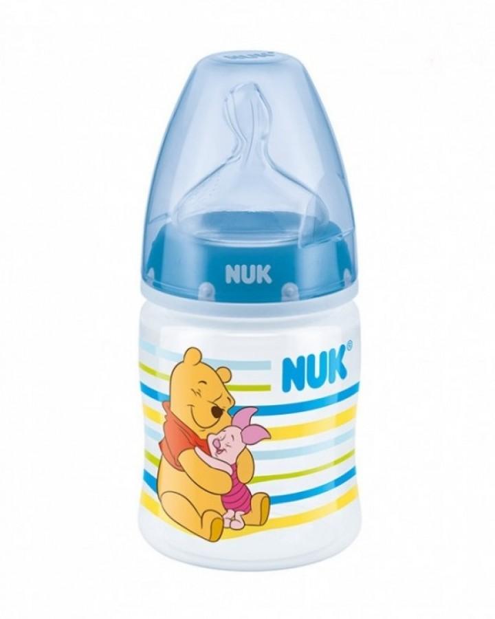 Bình Sữa Nuk Premium Choice+ Nhựa PP Cổ Rộng Núm Ti S1-M 150ml Disney