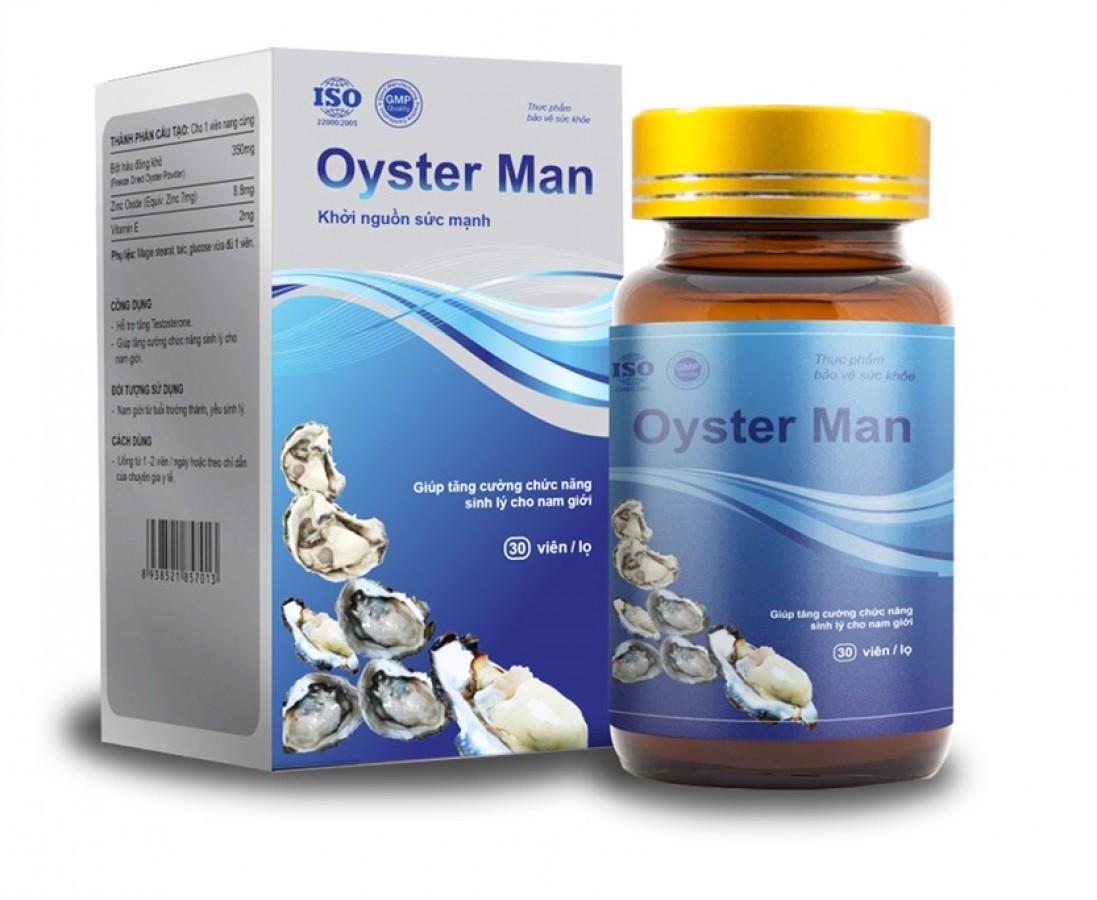 Tinh Chất Hàu OYSTER MAN Tăng Cường Sinh Lý Nam Giới 30 Viên