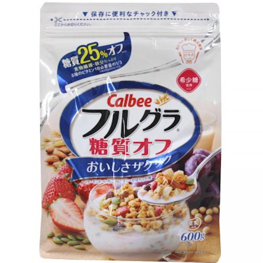 Ngũ Cốc Sấy Khô Calbee Gói Trắng 600gr Nhật Bản Chính Hãng