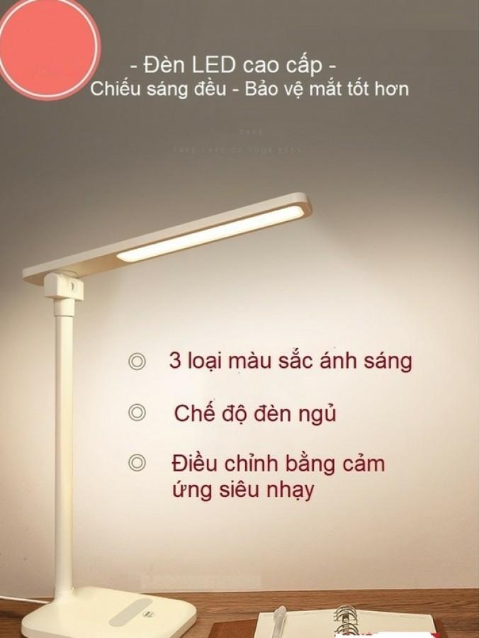 Đèn Học Để Bàn Led Chống Cận Thị Tích Hợp Giá Đỡ Điện Thoại