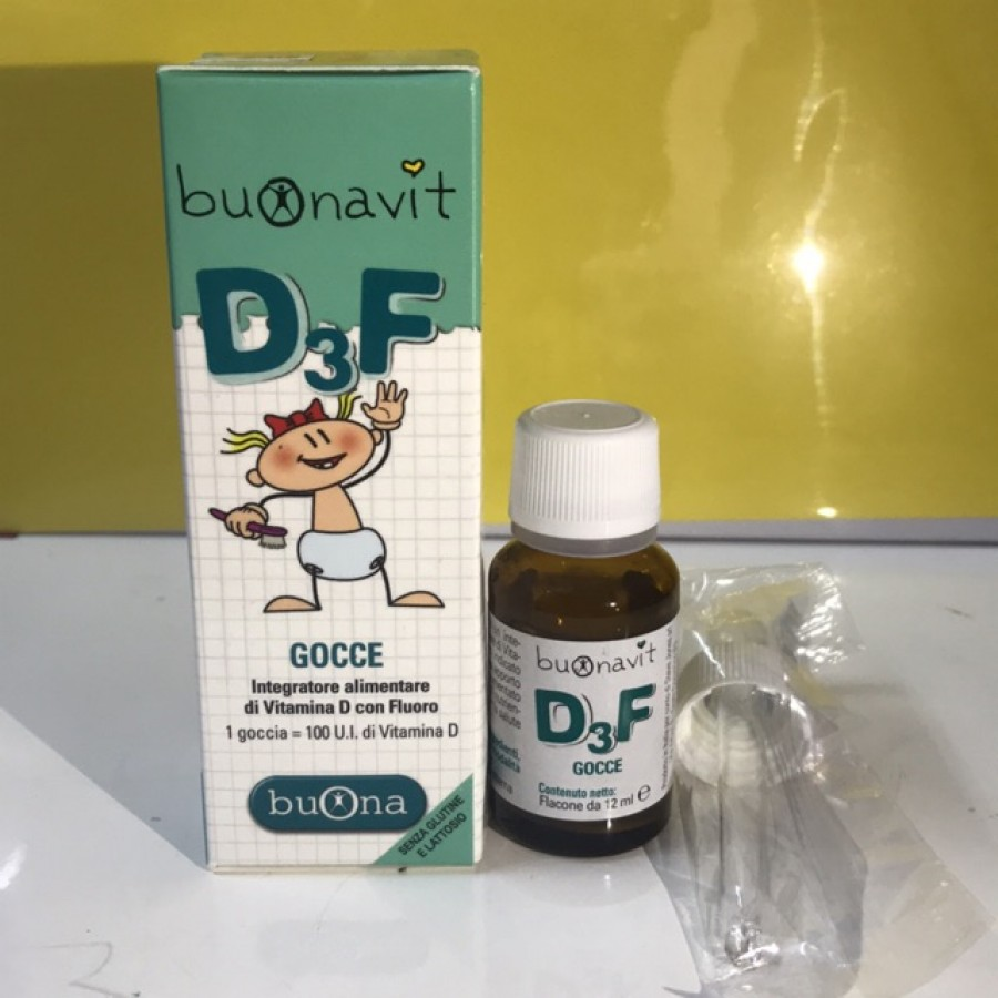 Siro Bổ Sung Vitamin D3 Và Flour Buonavit D3F Của Ý