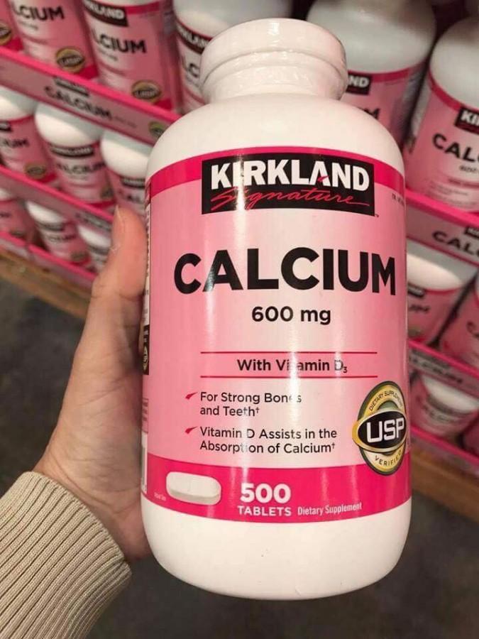 Viên Uống Hỗ Trợ Bổ Sung Calcium + D3 Của Kirkland