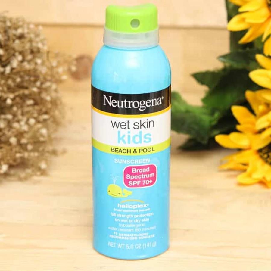Xịt Chống Nắng Cho Bé Neutrogena WetSkin SPF 70+