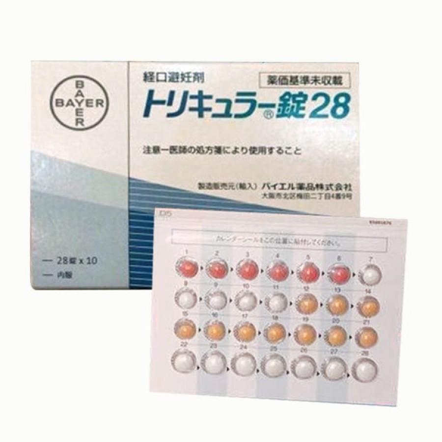 Viên Uống Hỗ Trợ Phòng Ngừa Tránh Thai Hàng Ngày Triquilar Bayer Nhật Bản