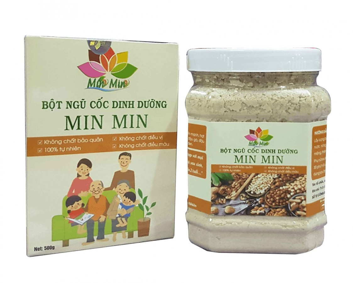 Bột Ngũ Cốc Lợi Sữa Min Min 18 Loại Hạt 500g