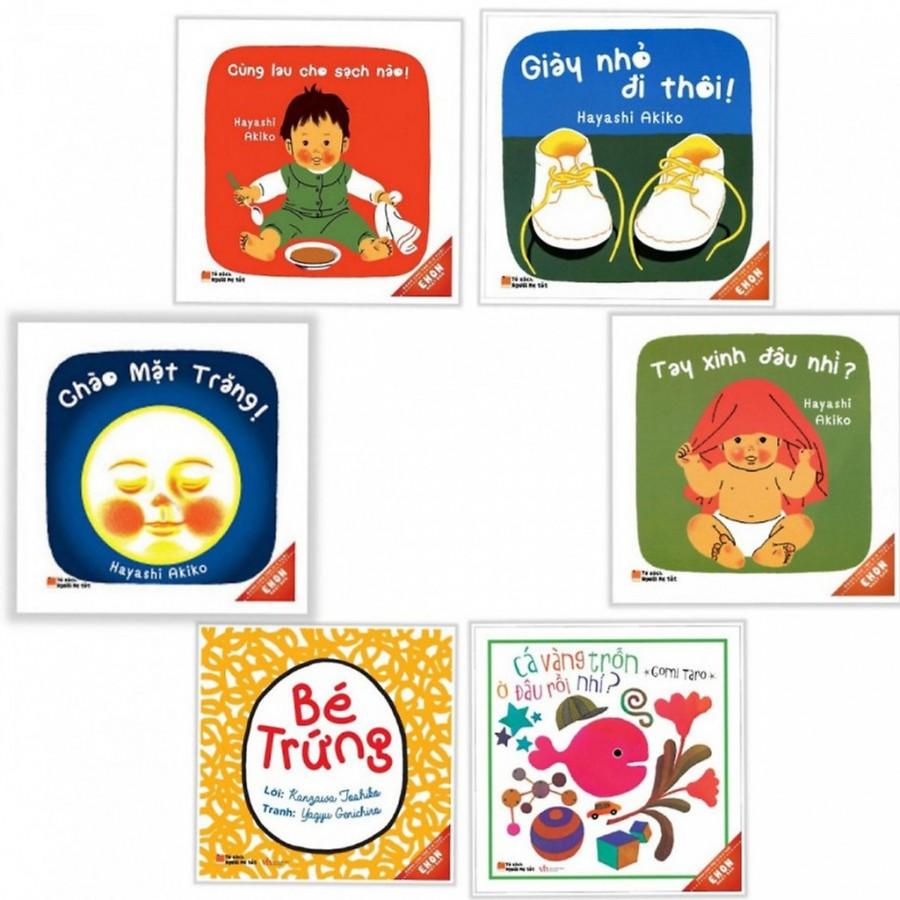 [Bộ 6 Cuốn ]  Sách Ehon Giờ Chơi Của Bé  Cho Trẻ Từ 0 - 3 Tuổi