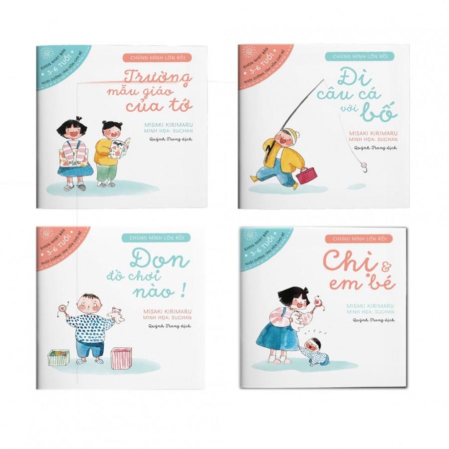 [Bộ 4 Cuốn] Sách Ehon Chúng Mình Lớn Rồi Cho Trẻ Từ 3 Đến 6 Tuổi