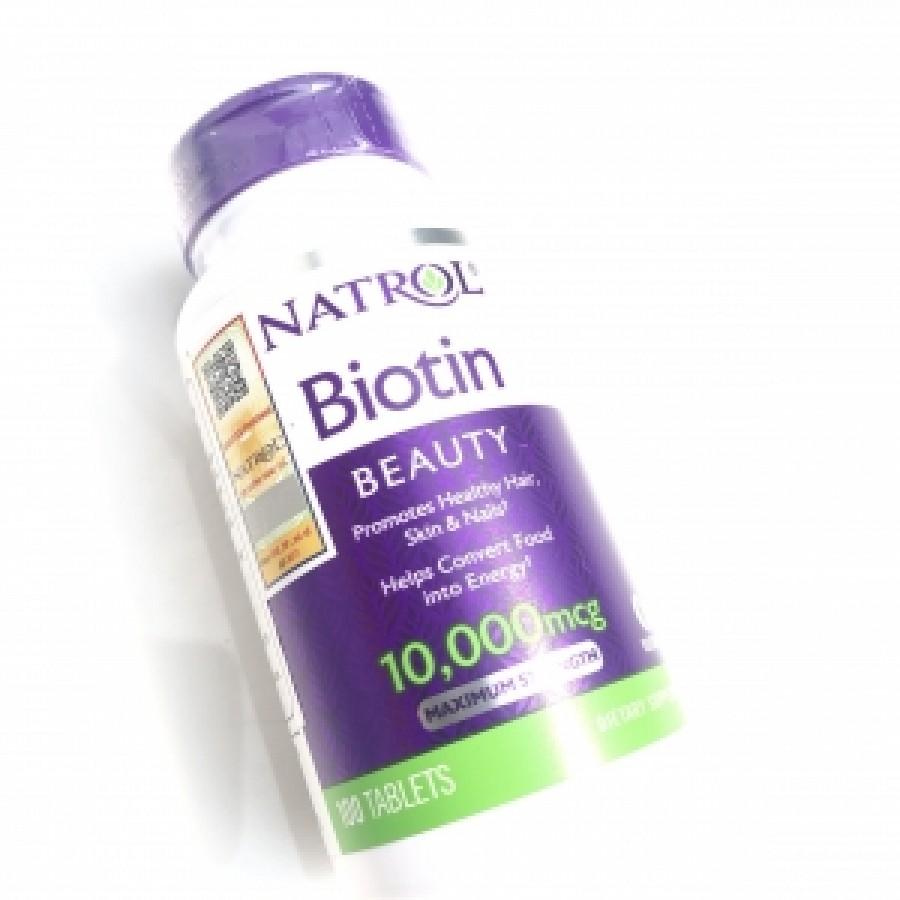 Viên Uống Biotin Natrol 10000 Mcg Hỗ Trợ Mọc Tóc Của Mỹ