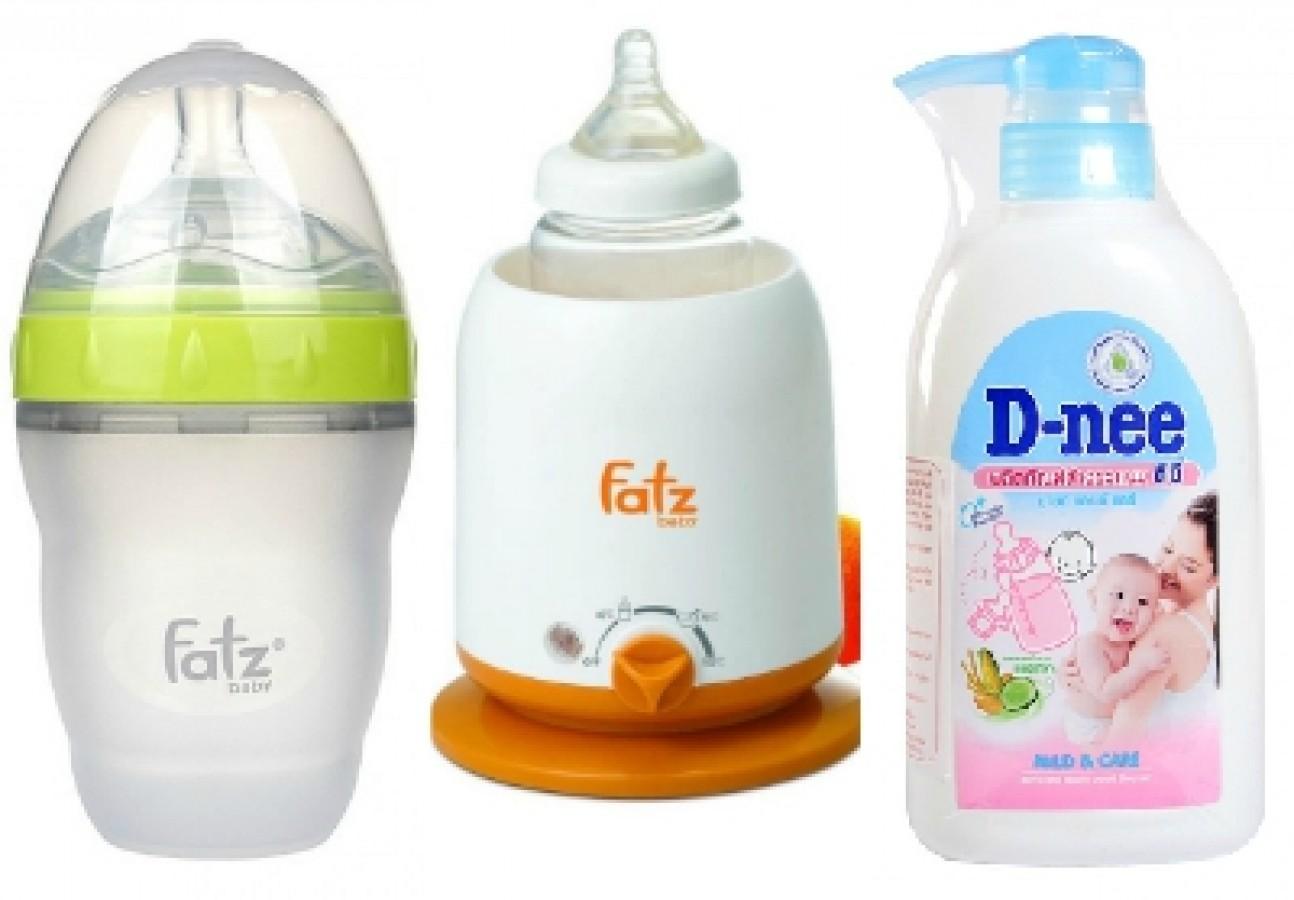 Combo Trọn Bộ Sản Phẩm Máy Hâm Sữa, Bình Sữa, Nước Rửa Bình Cho Mẹ Và Bé