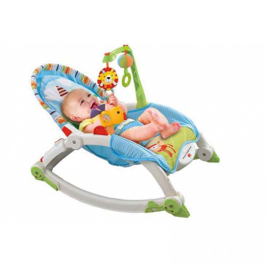 Ghế Nằm Rung Bập Bênh Cho Trẻ Konig Kids Có Đồ Chơi KK63560