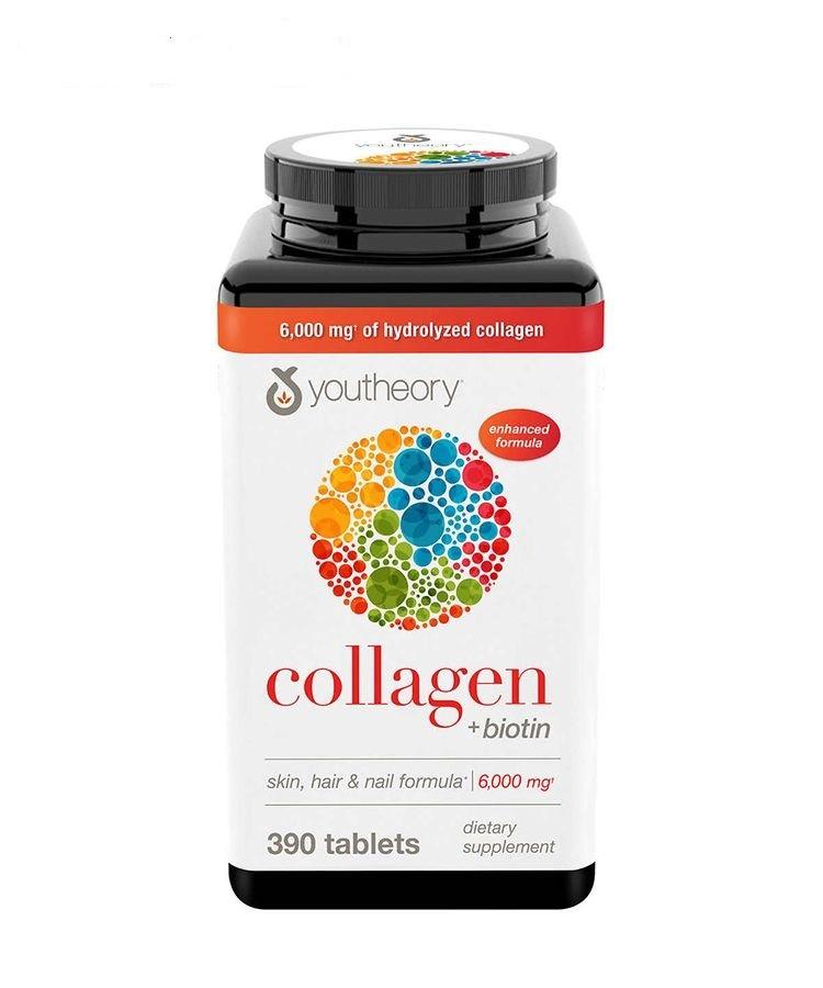 Viên Uống Hỗ Trợ Bổ Sung Collagen Youtheory Type 1 2 & 3 Của Mỹ