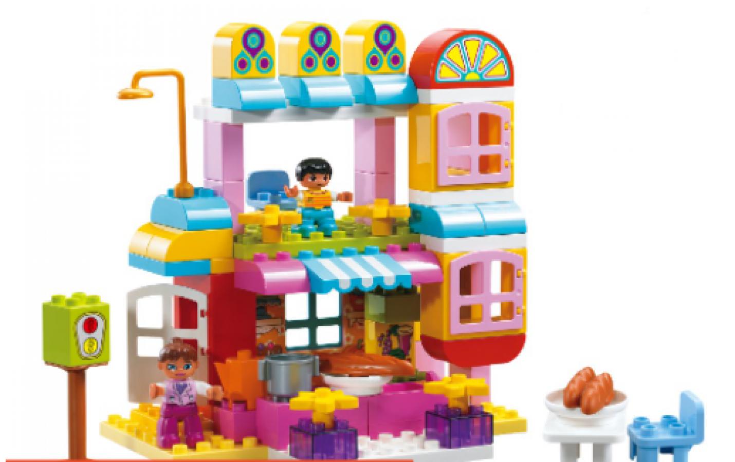 Bộ Đồ Chơi Lắp Ghép Nhà Hàng Vui Vẻ Toyshouse