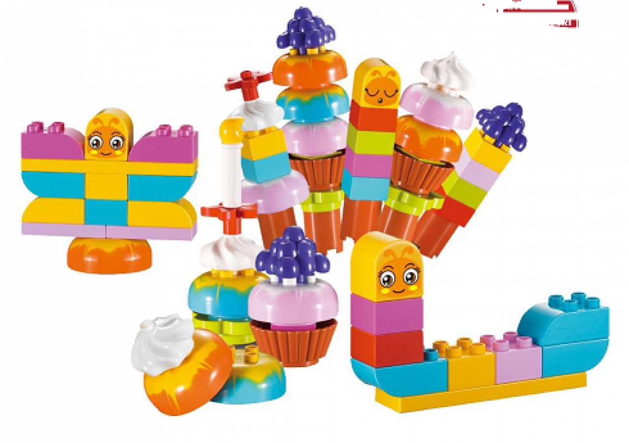 Bộ Đồ Chơi Lắp Ráp Ly Kem Nhiều Màu Toyshouse