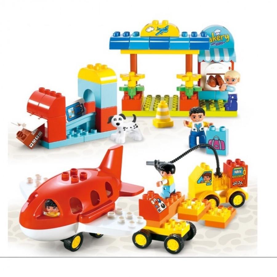 Bộ Đồ Chơi Lắp Ráp Mô Hình Sân Bay Vui Nhộn Toyshouse