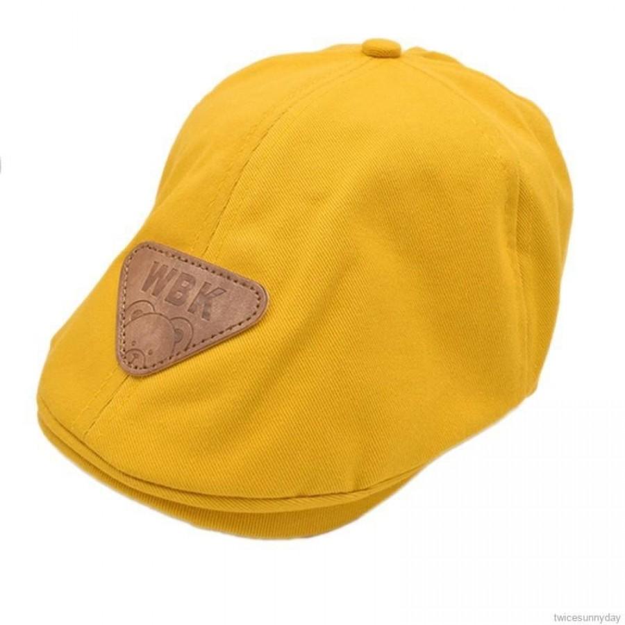 Mũ Beret Họa Tiết Thỏ Thêu Dễ Thương Cho Bé Trai