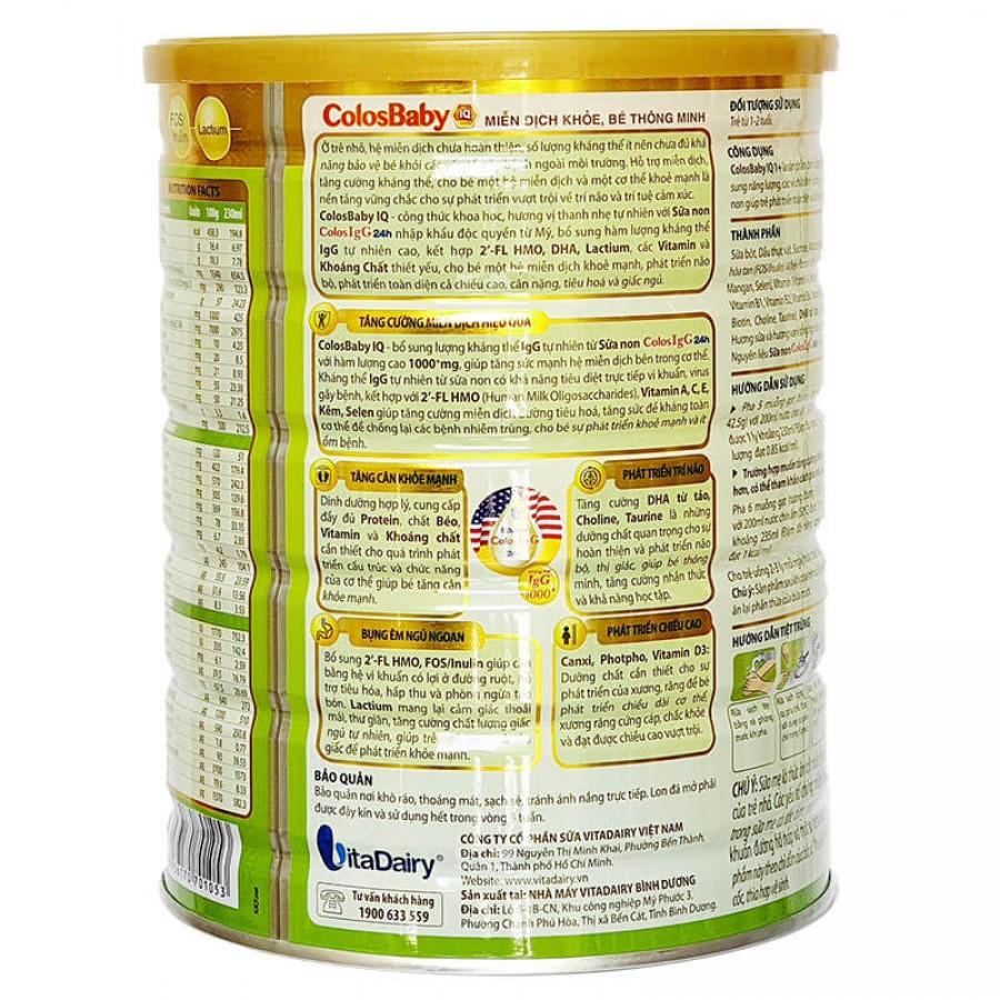 Sữa Non Colosbaby IQ Gold 1+ 800gr