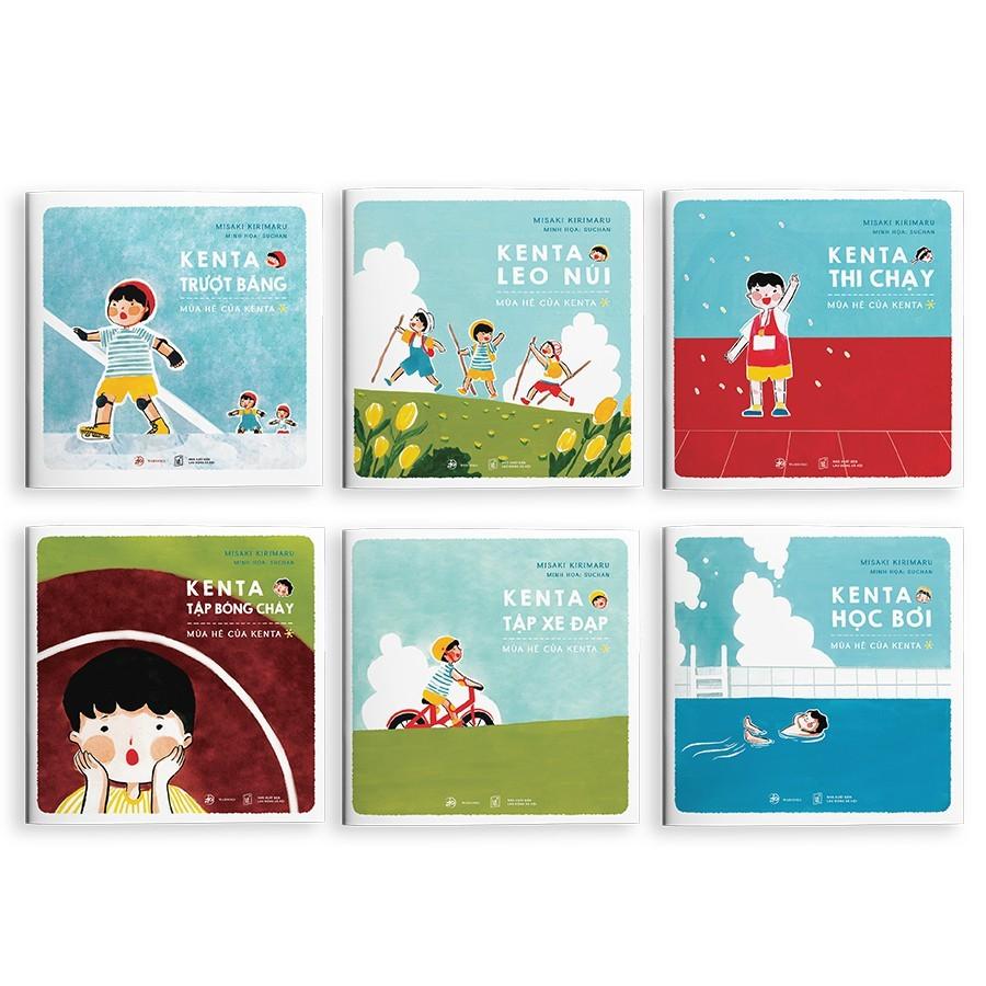 Combo 6 Cuốn Sách Ehon Học Thể Thao Cùng Kenta