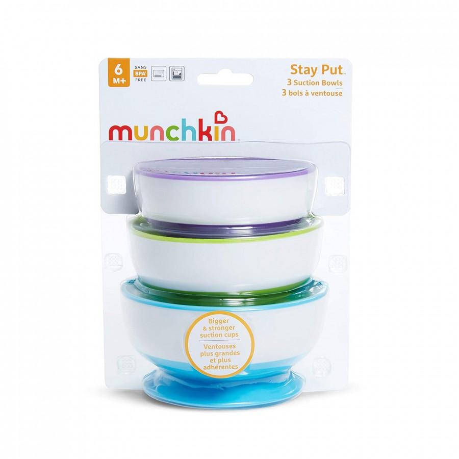 Bộ Bát Ăn Chống Đổ Munchkin Cho Bé Ăn Dặm