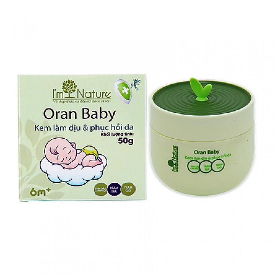 Kem Bôi Muỗi Và Hỗ Trợ Làm Dịu Làn Da Oran Baby I'm Nature
