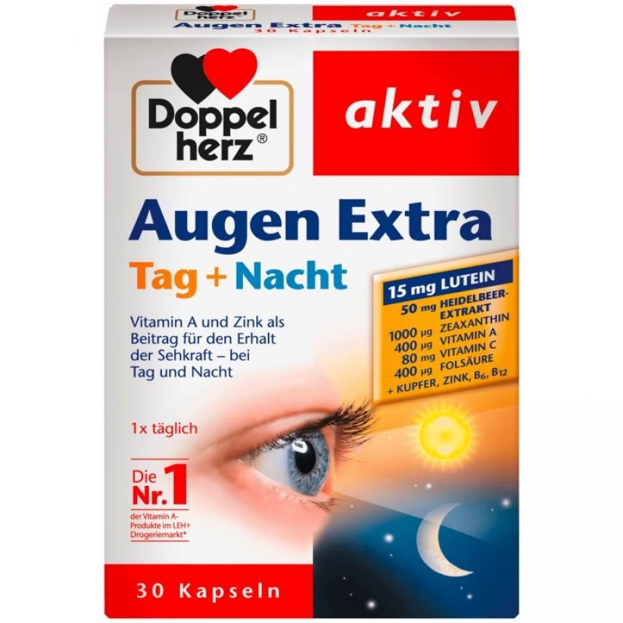 Viên Uống Hỗ Trợ Bổ Mắt Doppelherz Augen Extra Tag + Nacht