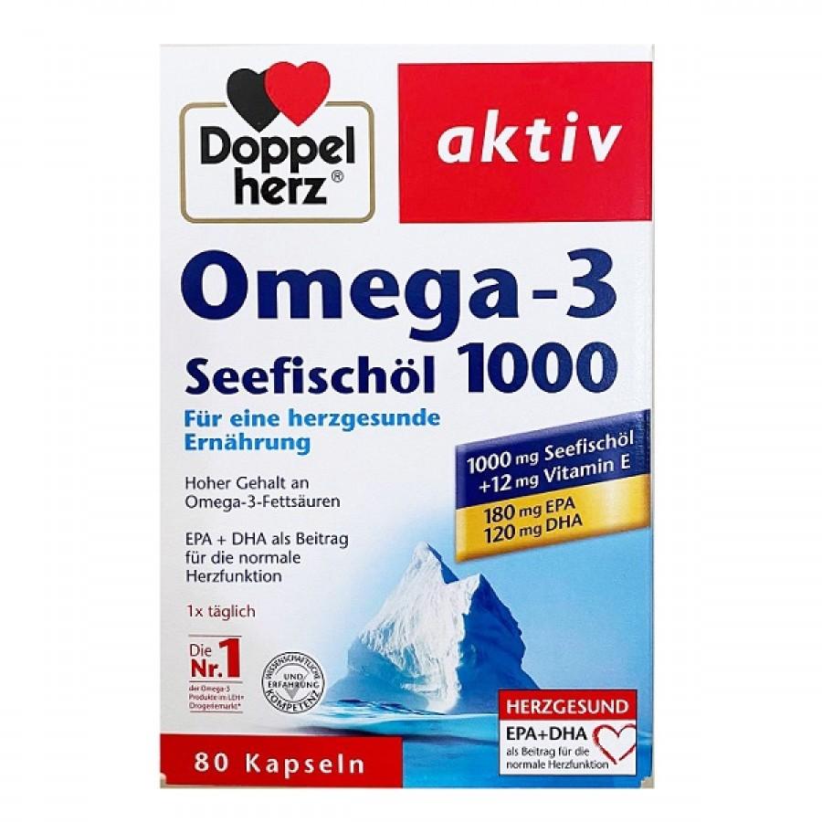 Dầu Cá Omega 3 Doppelherz Seefischol 1000 + Vitamin E