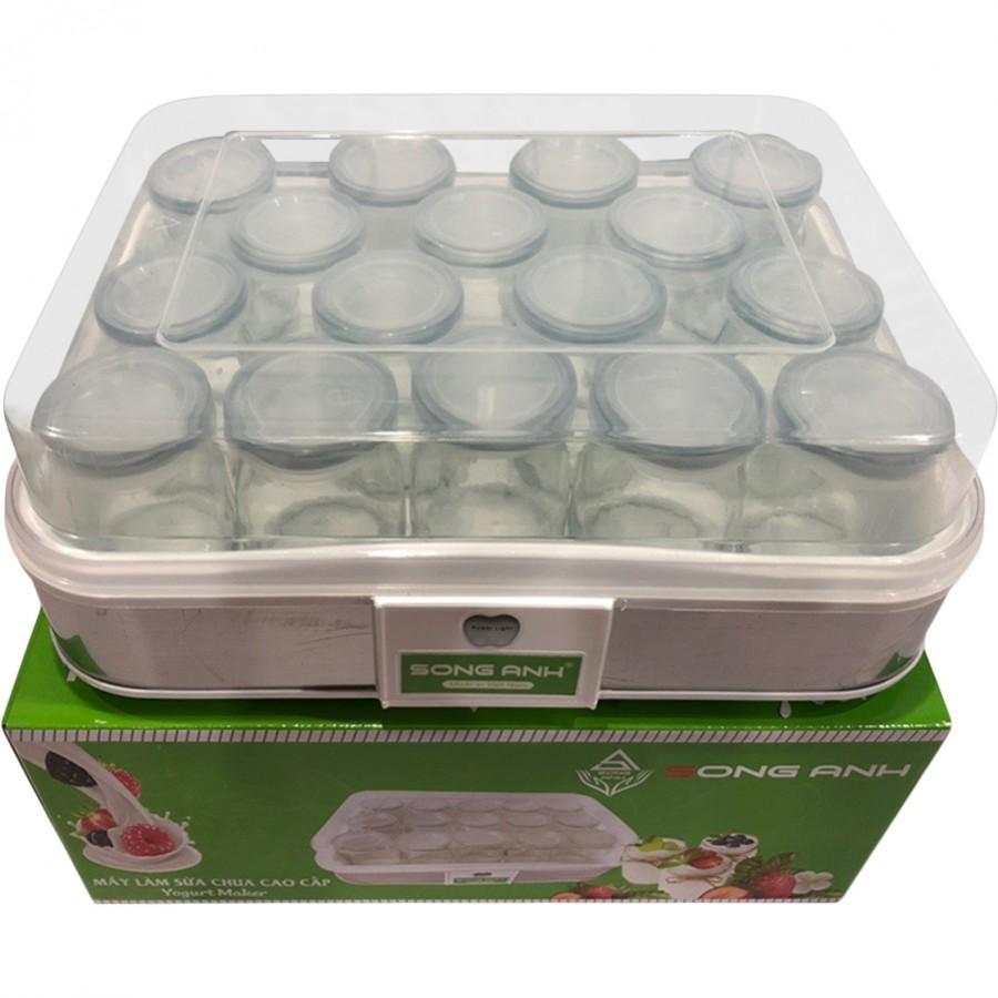 Máy Làm Sữa Chua Song Anh Kèm Cốc Thủy Tinh