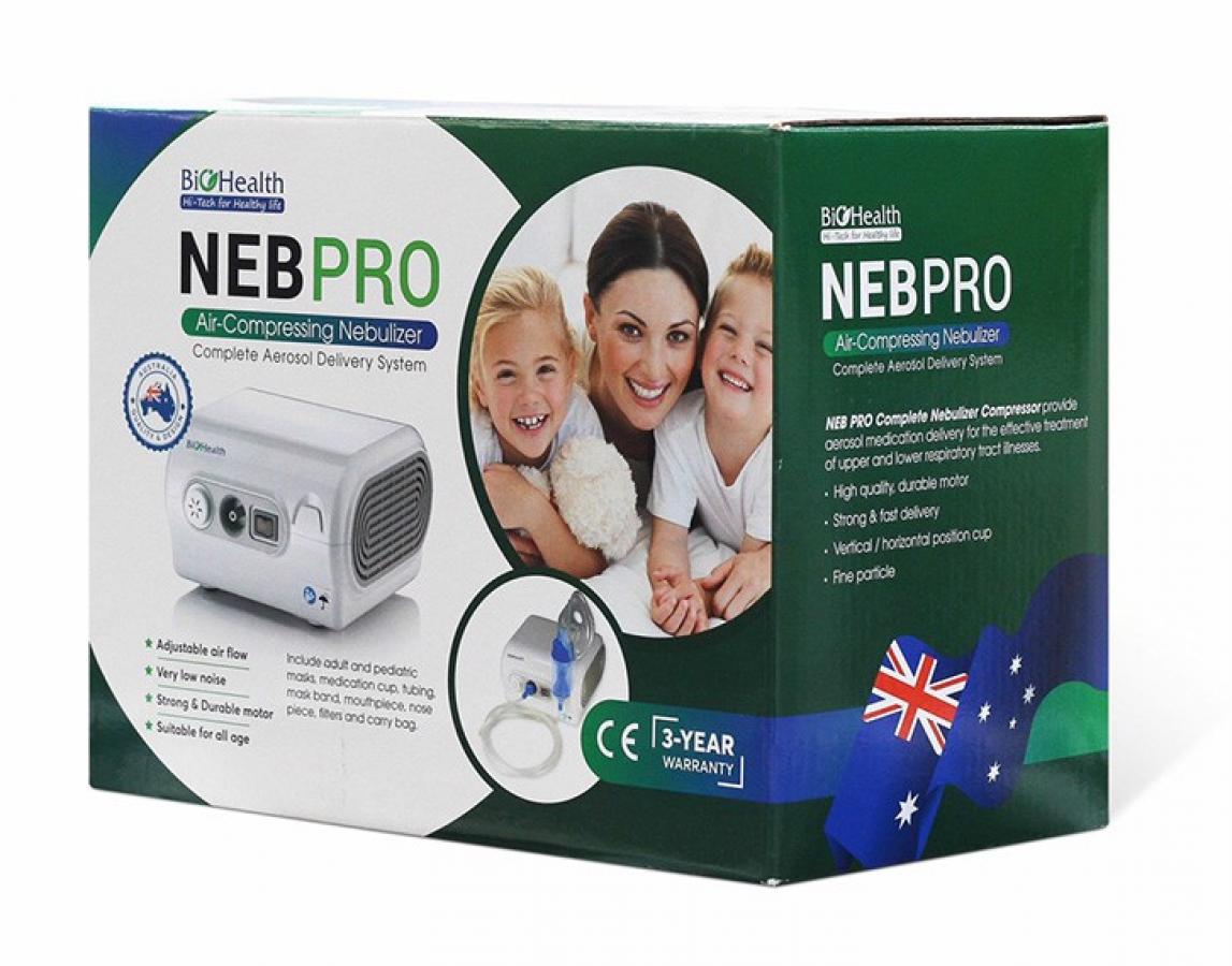 Máy Xông Khí Dung Mũi Họng Biohealth NEB Pro