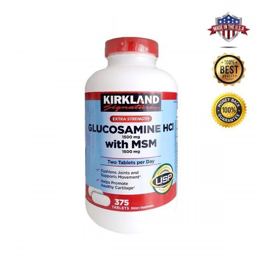 Viên Uống Bổ Trợ Khớp Kirkland Glucosamine HCL 1500mg With MSM 1500mg