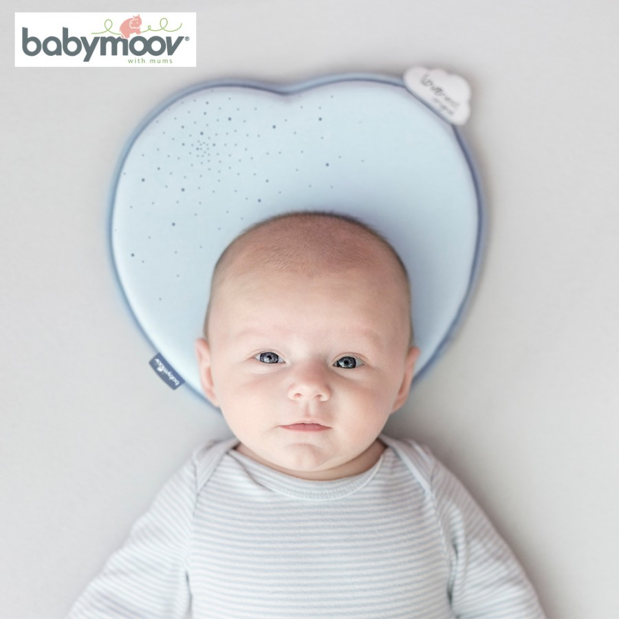 Gối Tránh Bẹt Đầu Babymoov Lovenest Màu Xanh Lơ BM14301