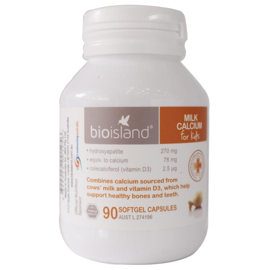 Canxi Sữa Milk Calcium Bio Island Cho Bé Của Úc